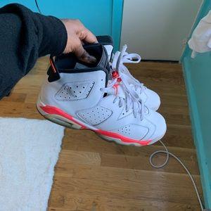 White Infrared Jordan 6